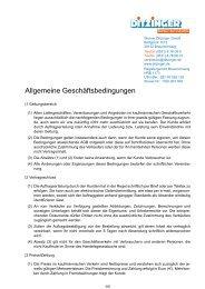 Download der AGB - Werner Ditzinger GmbH