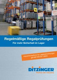 Regelmäßige Regalprüfungen - Werner Ditzinger GmbH