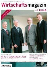 Nr. 3 Mai/Juni 2007 3. Jahrgang - Wirtschaftsmagazin Ruhr