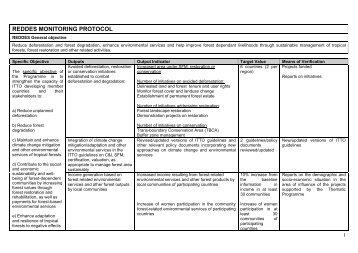 REDDES Monitoring Protocol - ITTO