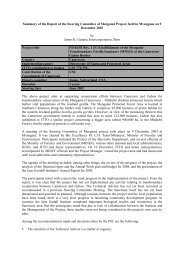 Summary of the Report of the Steering Committee ... - Tropicalforest.ch