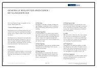 Generelle regler for kreditorer i Betalingsservice (pdf) - Danske Bank