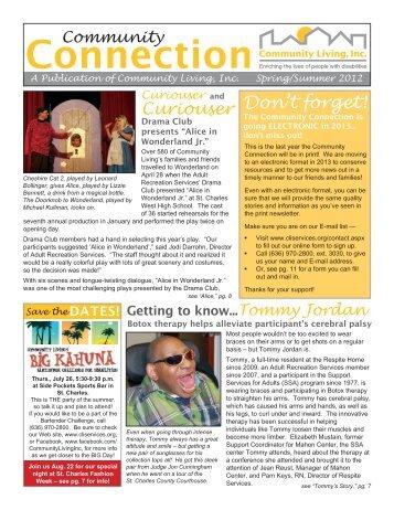 Spring/Summer 2012 Edition - Community Living, Inc.