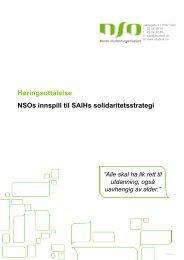 SAIHs solidaritetsstrategi 2013-2017 - Norsk studentorganisasjon