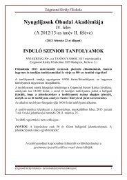 A kurzus címe - Zsigmond Király Főiskola