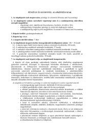 Képzési és kimeneteli követelmények - Zskf.hu