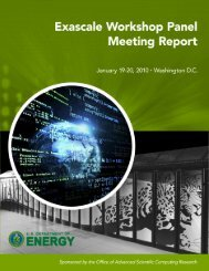 Exascale Workshop Panel Report