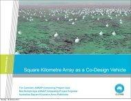 Square Kilometre Array as a Co-Design Vehicle - Exascale.org
