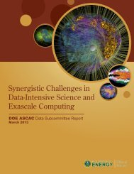 Synergistic Challenges in Data-Intensive Science ... - Office of Science