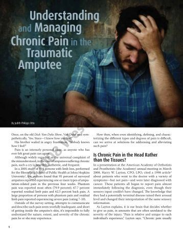Understanding and Managing Chronic Pain in the ... - OandP.com