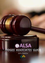 Judges' Associates' Guide - 2015 Edition (Online)