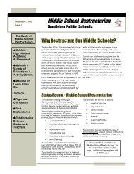 Middle School Restructuring - Ann Arbor Public Schools