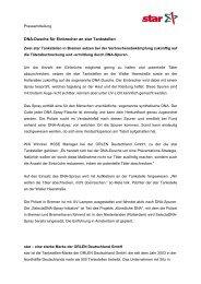 DNA-Dusche für Einbrecher an star Tankstellen - ORLEN Deutschland