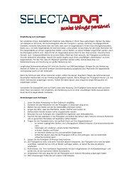 Gebrauchsanweisung - SelectaDNA