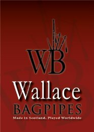 Wallace Bagpipes Brochure