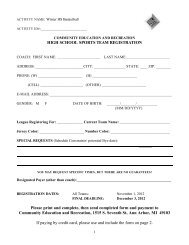HS Basketball Team Registration Form - Ann Arbor Public Schools