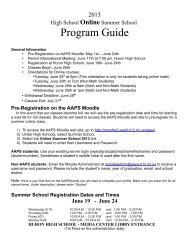Download the Program Guide - Ann Arbor Public Schools