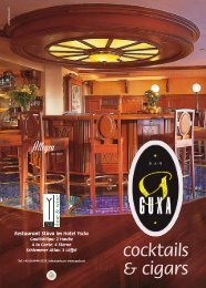 unserer Cocktailkarte - Hotel YSCLA