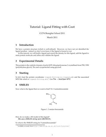 Tutorial: Ligand Fitting with Coot