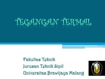 Tegangan termal - Universitas Brawijaya