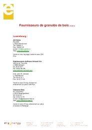 Fournisseurs de granulés de bois (05/2013) - myenergy