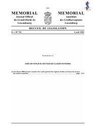Loi du 30 juin 2004 - Ministère des Classes Moyennes