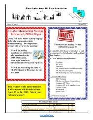 CLASC Membership Meeting February 6, 2009 6:30 pm