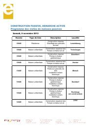 Visites de maisons passives - programme 2013 - myenergy