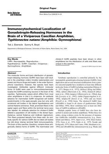 Immunocytochemical Localization of Gonadotropin-Releasing ...