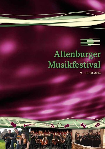 Altenburg, Agnesgarten - Altenburger Musikfestival