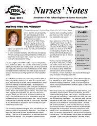 Nurses' Notes - Yukon Registered Nurses Association