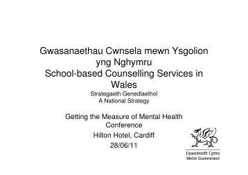 Gwasanaethau Cwnsela mewn Ysgolion yng Nghymru School ...