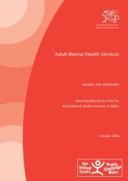 race equality cover.indd - Wales Mental Health in Primary Care ...