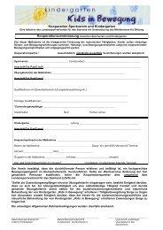 Kooperation Sportverein und Kindergarten - Landessportverband für ...