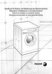 Handbuch für Einbau und Bedienung der Waschmaschine Manuale ...