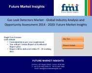 Gas Leak Detectors Market - Global Industry Analysis and Opportunity Assessment 2014 - 2020: Future Market Insights