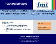 Waterproofing Chemicals Market - Asia Pacific Industry Analysis and Opportunity Assessment 2014 - 2020: Future Market Insights