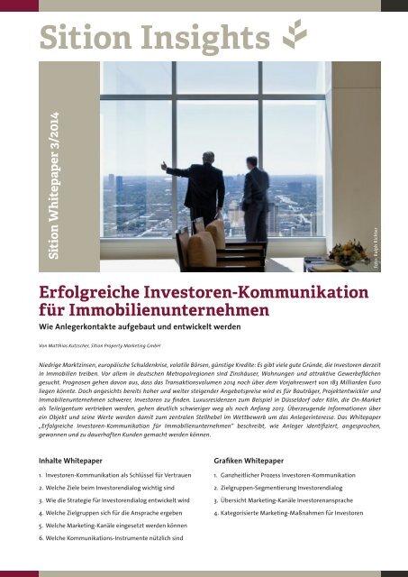 Sition Insights - Investoren-Kommunikation