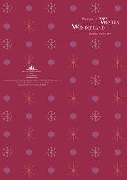WINTER WONDERLAND - Niche Destinations