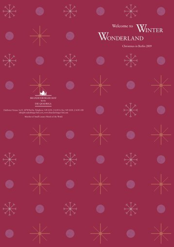 WINTER WONDERLAND - Niche Destinations