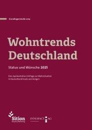 Grundlagenstudie Wohntrends Deutschland