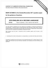 0510 ENGLISH AS A SECOND LANGUAGE - XtremePapers