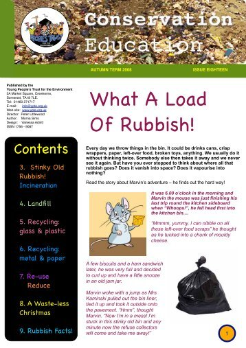 Reduce! - Young People's Trust for the Environment