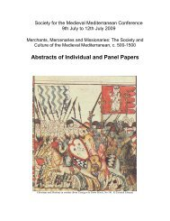 Abstracts of Individual and Panel Papers - College of Social ...