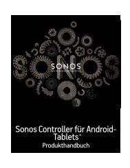 Sonos Controller für Android-Tablets - Almando