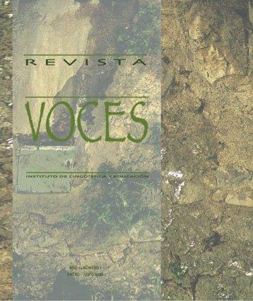 Revista Voces No. 1 - Universidad Rafael Landívar