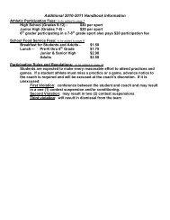 Additional 2010-2011 Handbook Information - Sscusd.k12.il.us