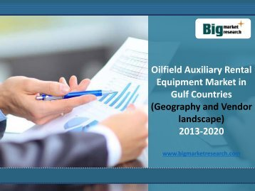 Gulf Countries Oilfield Auxiliary Rental Equipment Market Size, Demand 2013-2020