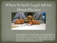 When To Seek Legal Advice About Divorce