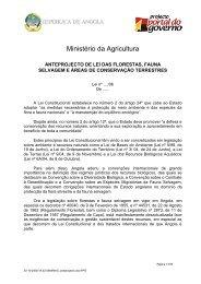 Anteprojecto de Lei das Florestas, Fauna Selvagem e Áreas ... - saflii